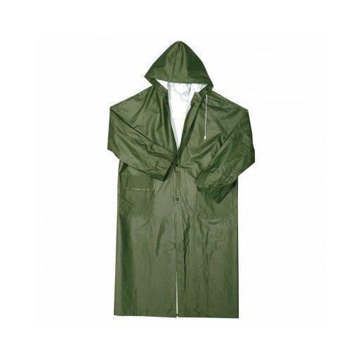 Cappotto lungo con cappuccio fisso - verde