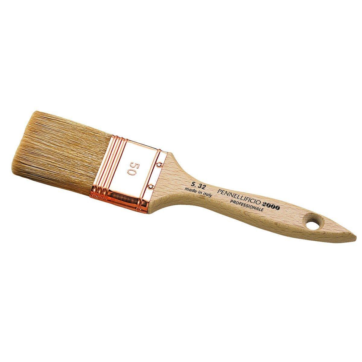 Pennellessa manico legno verniciato trasparente